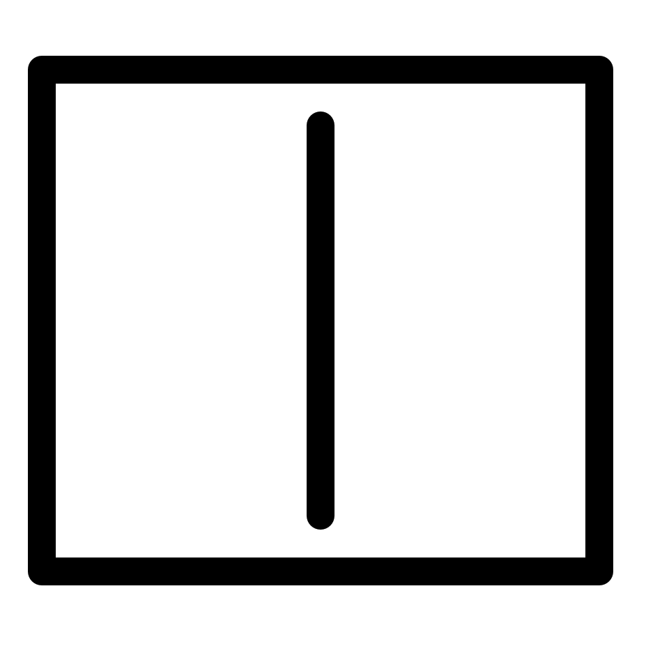 Text split vertical