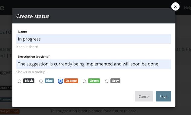 Creating a custom status