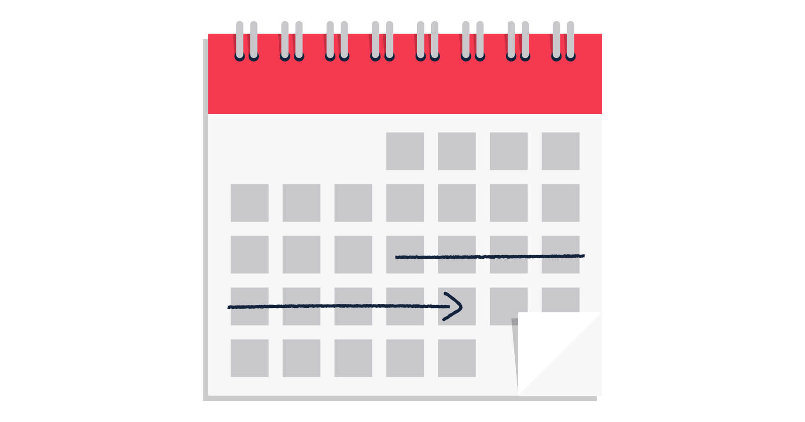 Screenshot of a calendar