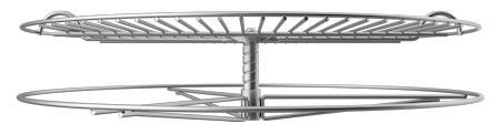 GrillUp™ Height Adjustable Replacement Grill / Grate Cooking Grid - view from side, fully raised