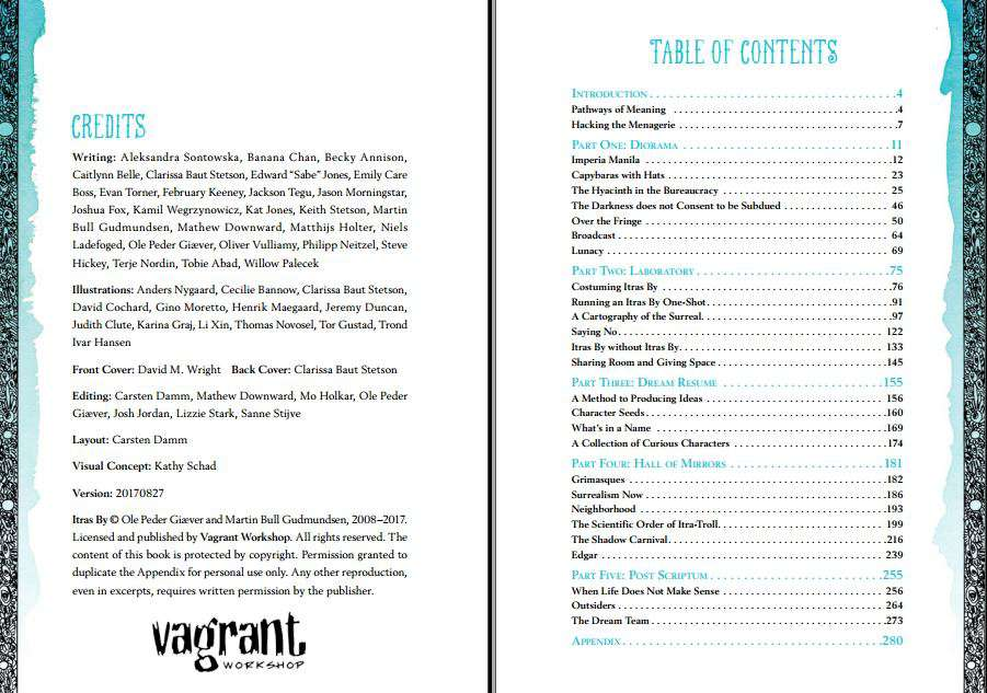 Screenshot of the book's imprint and table of contents