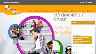 customthesis.org main page