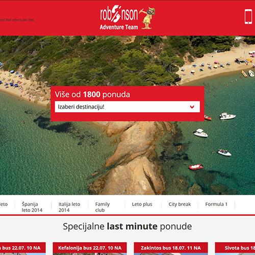 Robinson Travel Agency Website