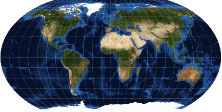 Robinson projection world map