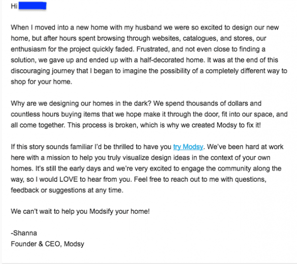 Personalized email