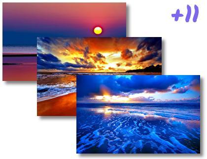 Beach Sunset theme pack