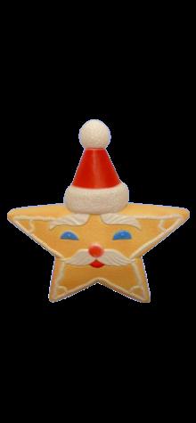 Gingerbread Santa Star photo