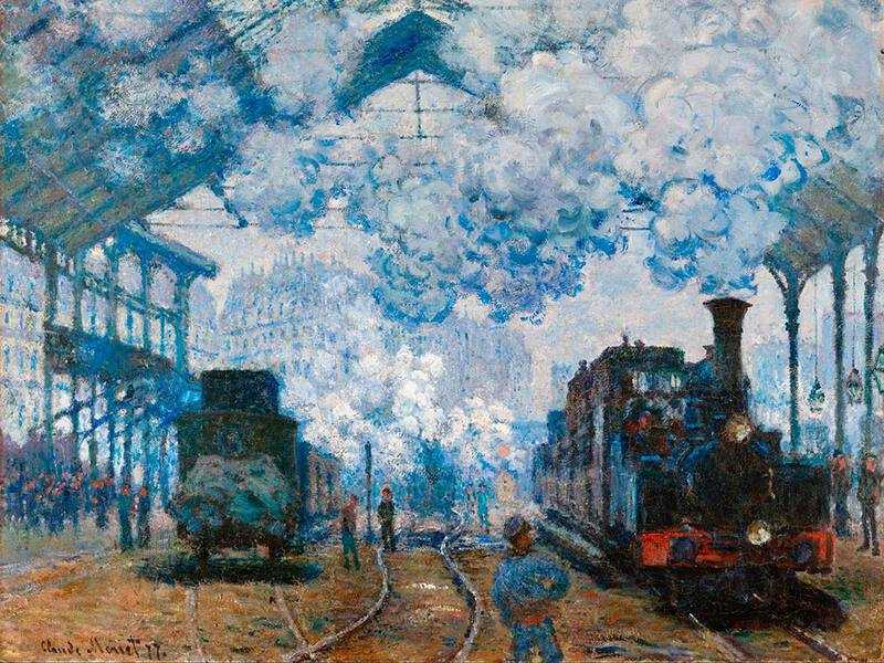 In 1877 Monet decided to paint fog and tricked the director of the Gare Saint Lazare into thinking he was an important artist (which in those days he wasn't!)