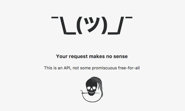 This is an API, not some promiscuous free-for-all