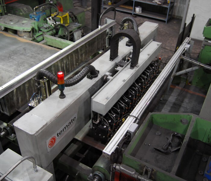 Steel Plate EMAT inspection with the temate® Pi-NB scanner top
