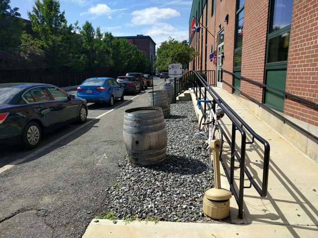 Clinton Street in Framingham with Jack's Abby and Springdale Barrel Room