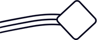piece of the logo pointing towards the title
