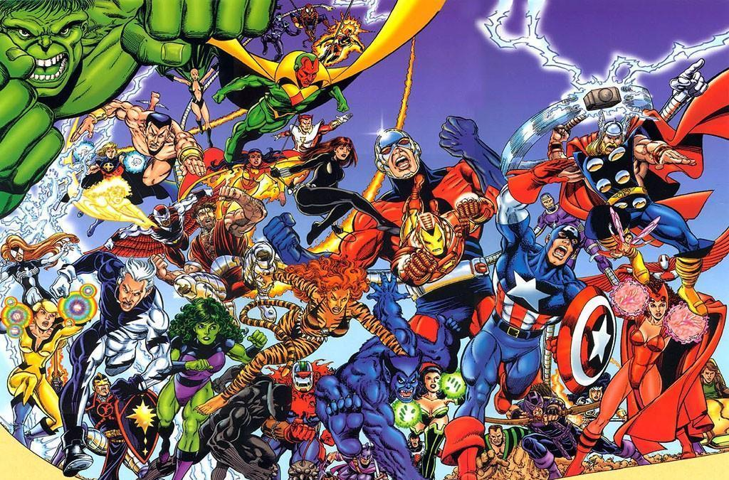 Muitos Vingadores aparecem na icônica capa dos Vingadores de Kurt Busiek e George Perez