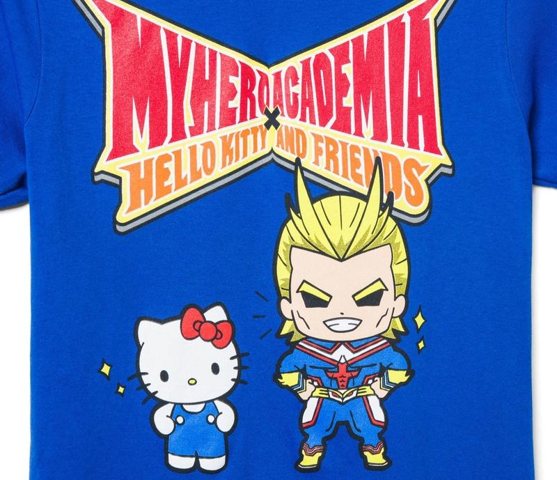 Blue Hello Kitty & My Hero Academia Graphic Tee