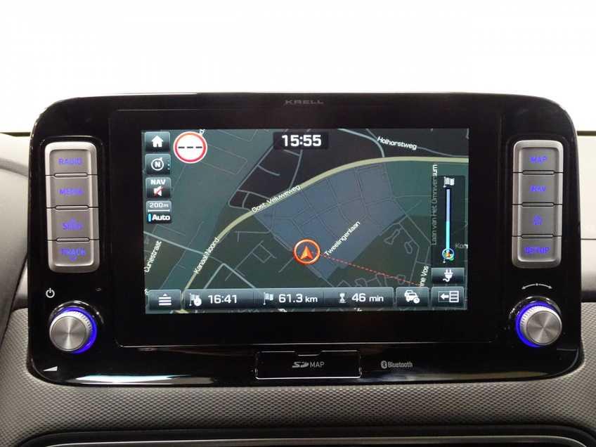Hyundai Kona EV Premium 64 kWh EX BTW 4% Leder Navigatie Clima Cruise Camera HUD  460 KM op 1 Lading! afbeelding 11