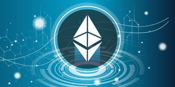 Ethereum logo auf krypto hintergrund