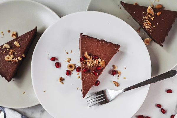 Dark And Rich Vegan Chocolate Hazelnut Tart
