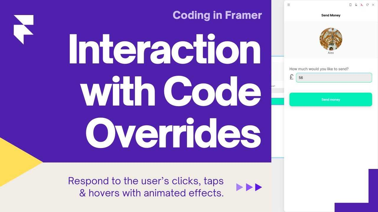"""Title card showing a screenshot of the bank app project and the title """"Interactions & Overrides 