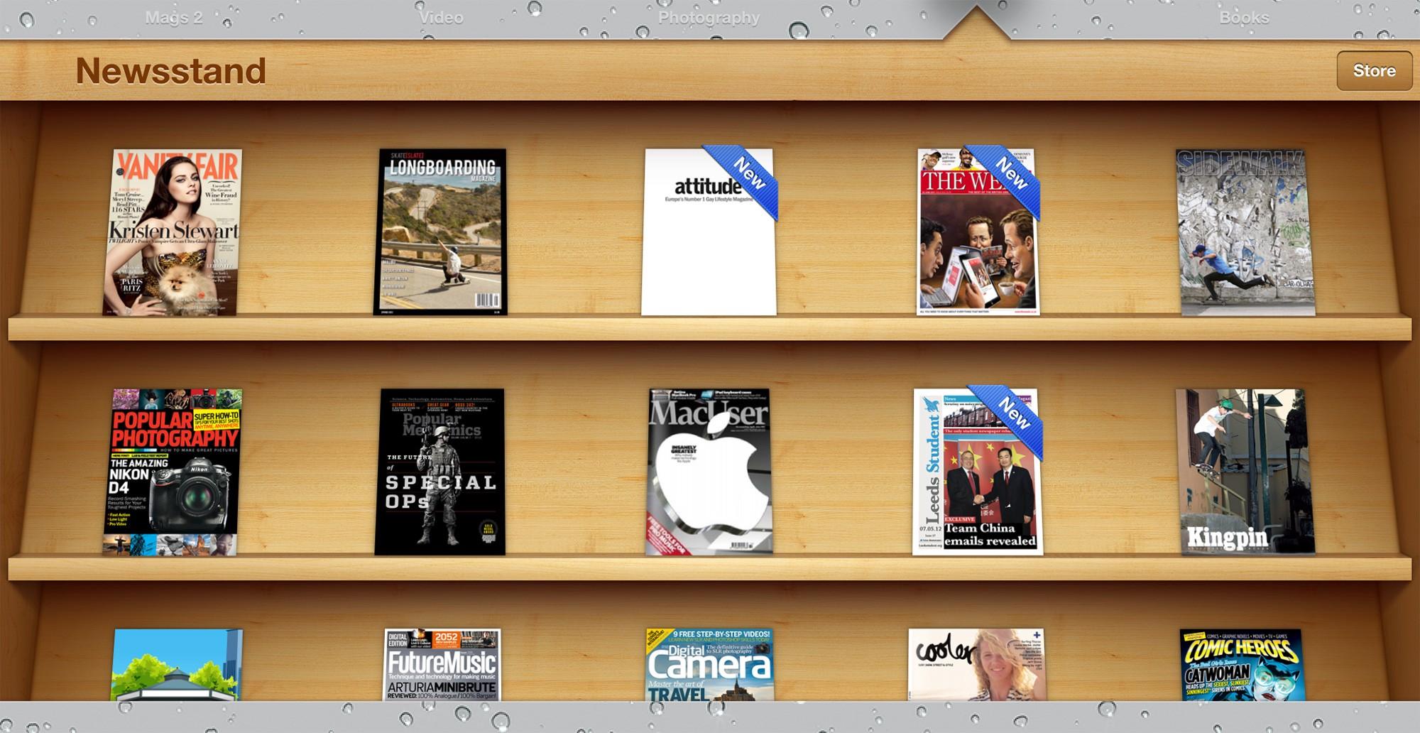iOS Newsstand