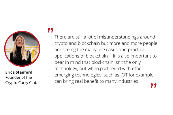 Erica Stanford commentary of blockchain technology for Ulam Labs