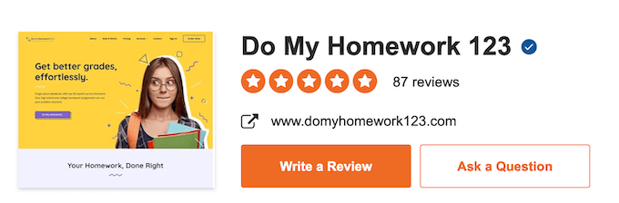 domyhomework123.com has a high consumer rating