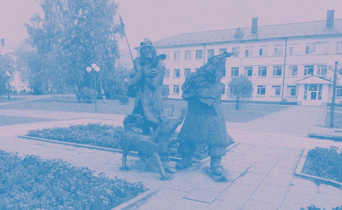 Памятник Робинзону Крузо иПятнице вТобольске. Источник: wikimedia.org