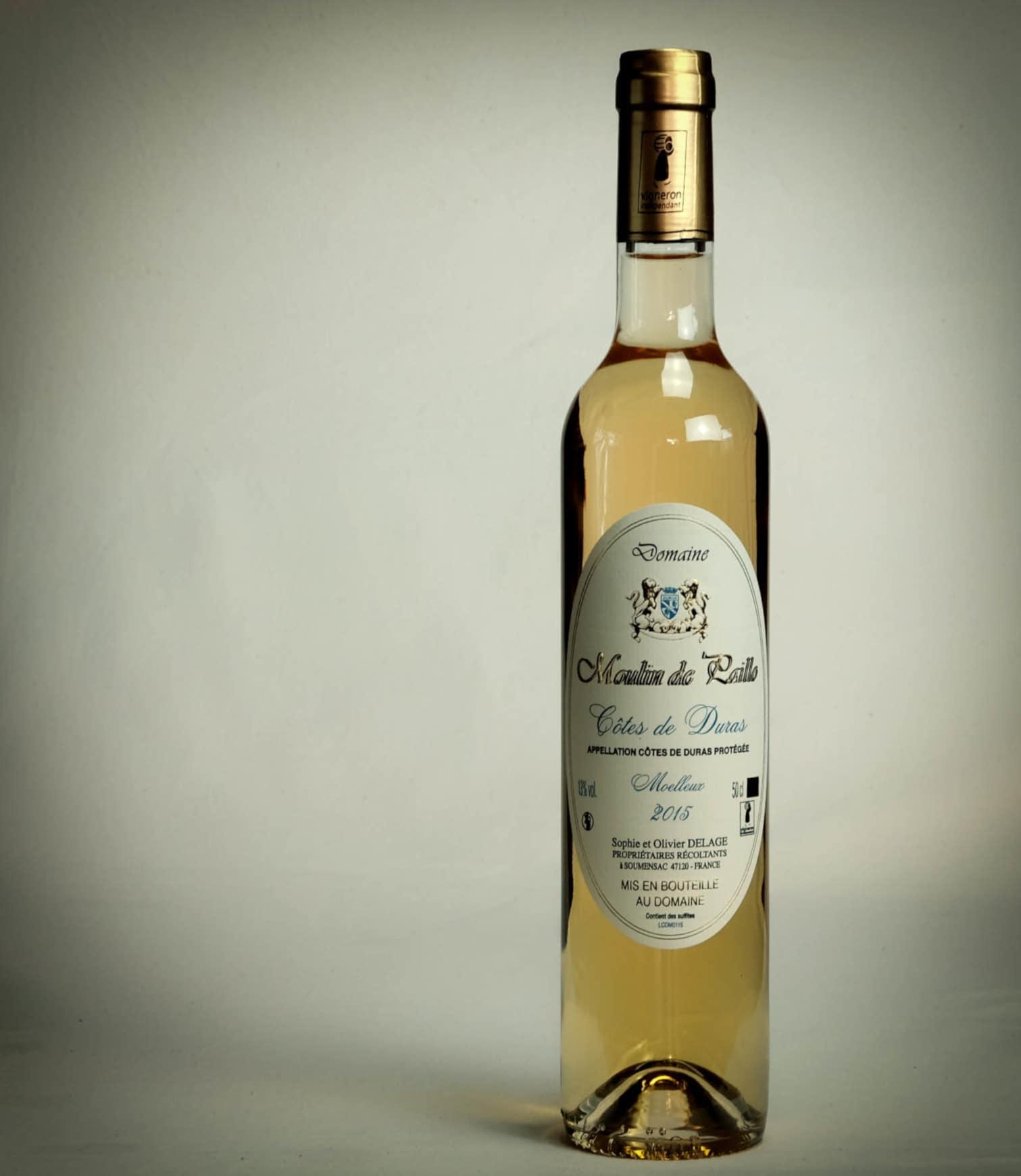 bouteille de vin moelleux