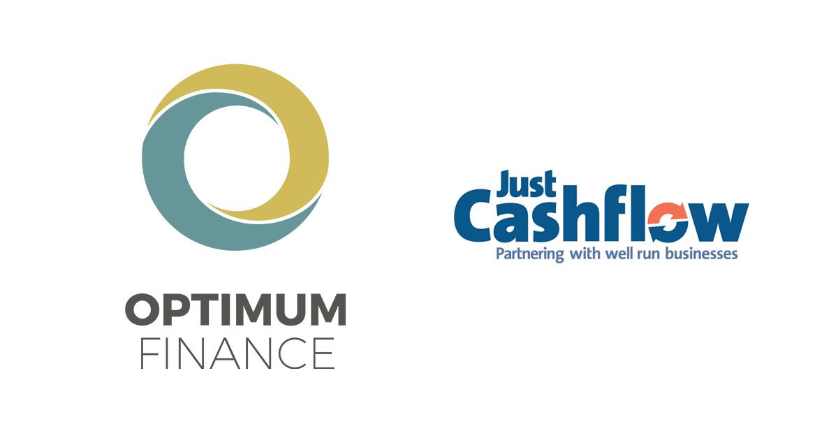 Optimum Finance logo Just Cashflow logo