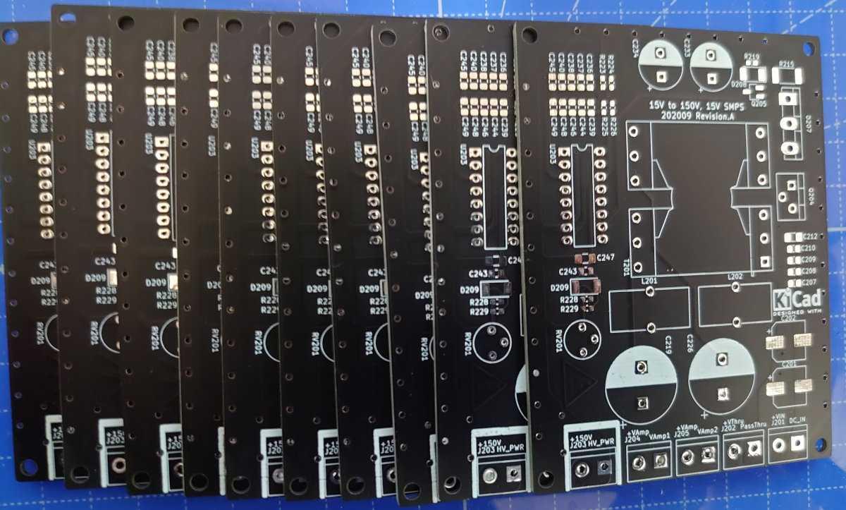 KiCadで設計した電源回路をJLCPCBに発注してPCBにした。