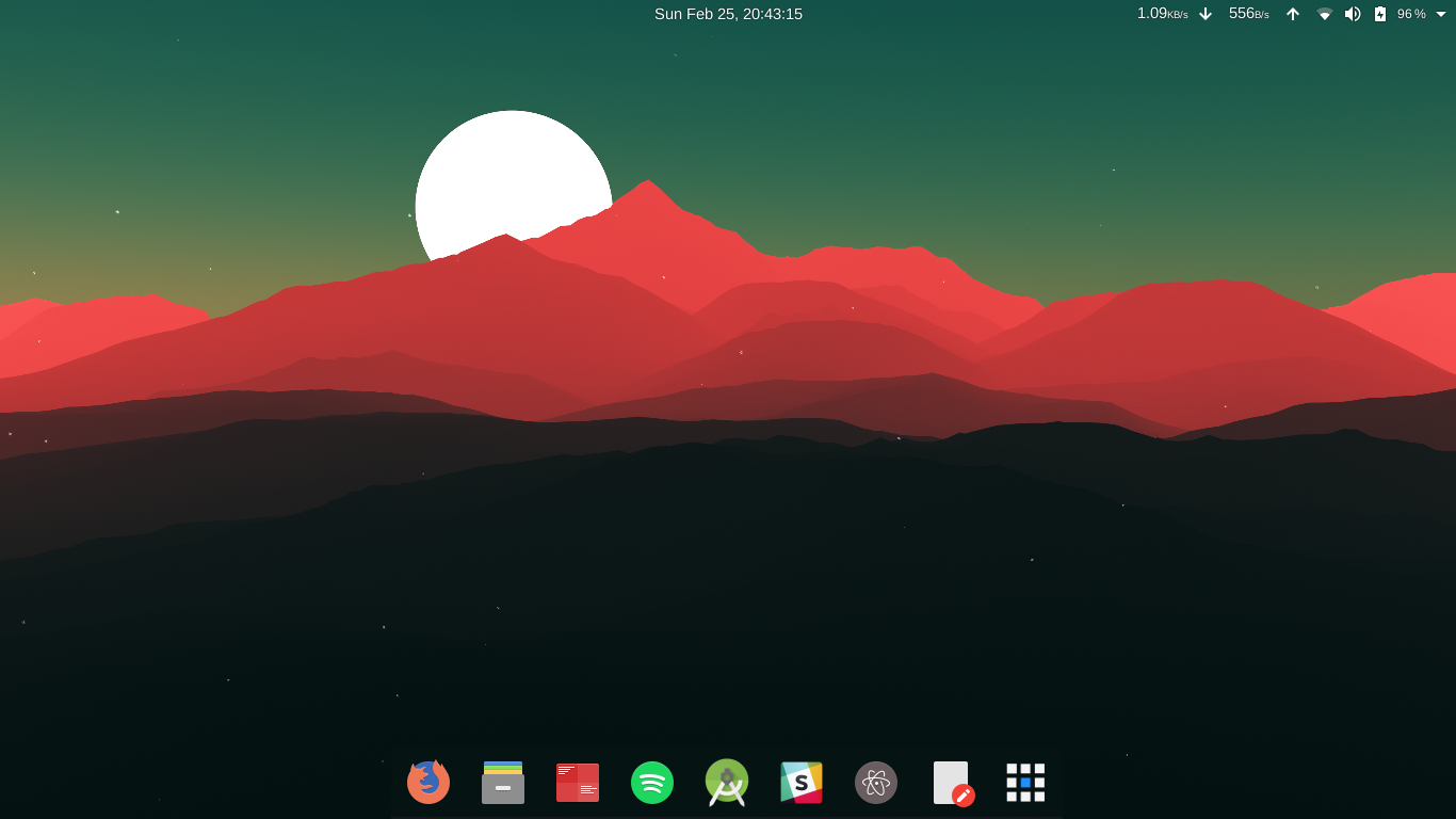 Desktop and dock