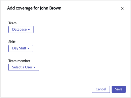 Provide coverage form to create a partial or full day coverage for the shifts where user is on time off.