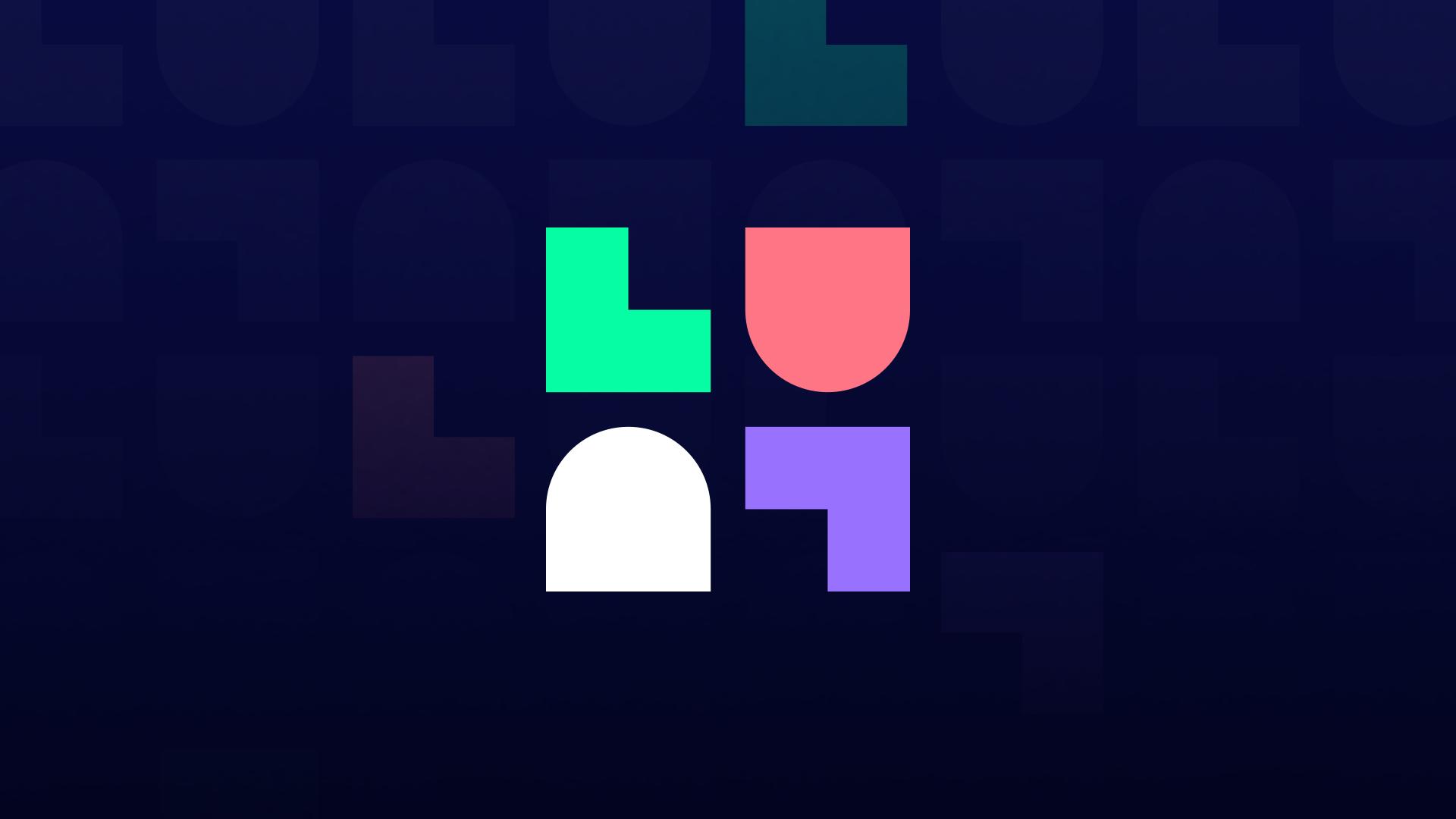 LuluLuvely logomark over navy blue patterned background