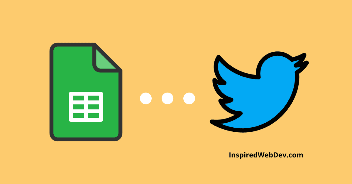 Send automated tweets from a Google Sheet with Google Scripts