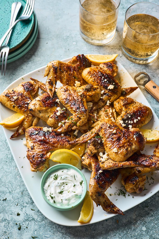 Greek Style Grilled Chicken Wings