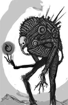Futuristic Monster Sketch