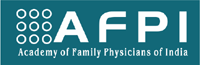 Logo of AFPI showing 9 circles with the initialism AFPI expanded as Academy of Family Physicians of India