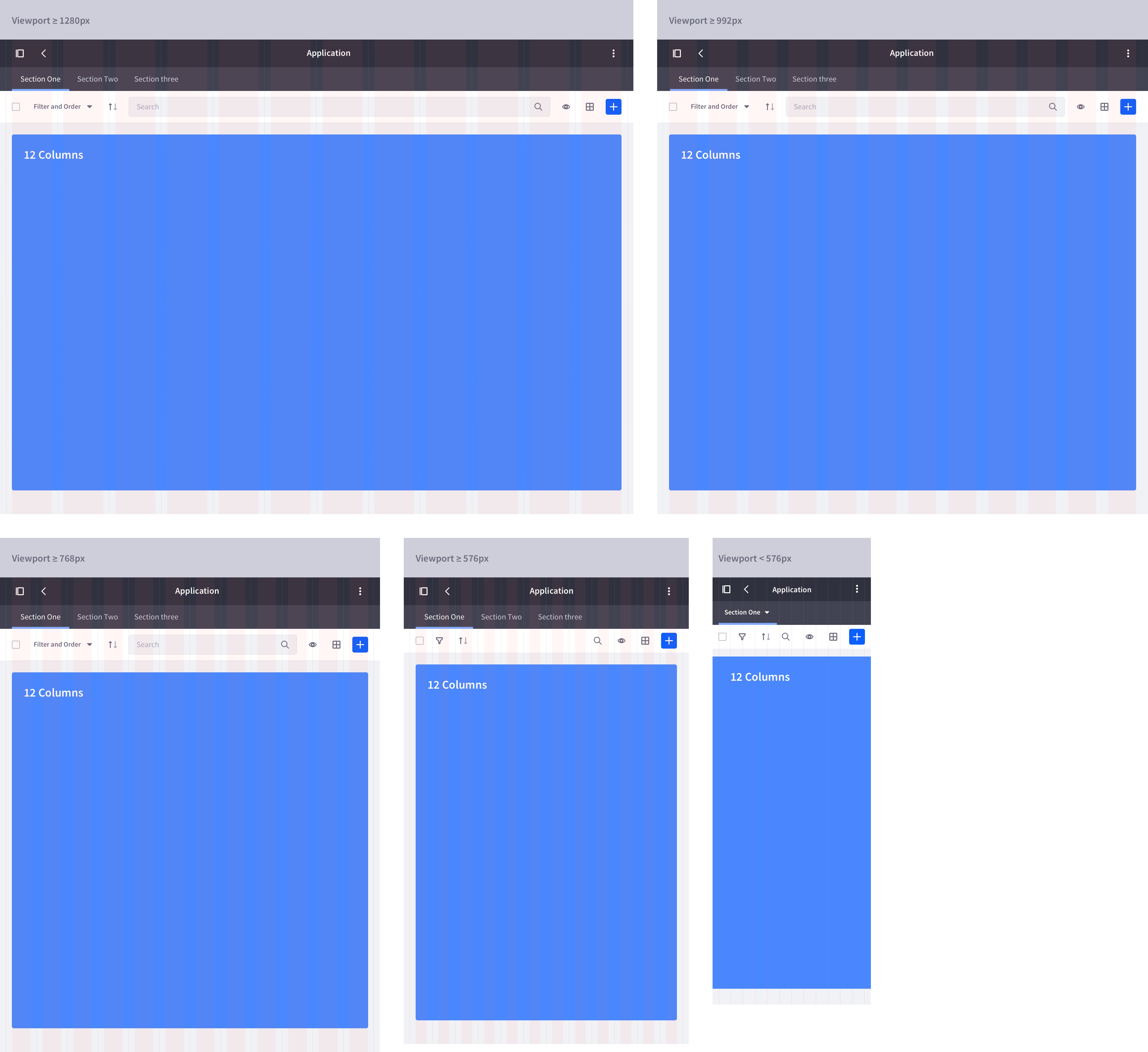 layout full box responsive summary
