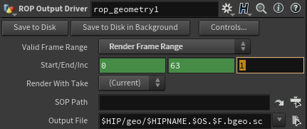 ROP with the Increment Parameter highlighted
