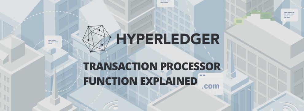 Hyperledger Composer's Transaction Processor Function explained