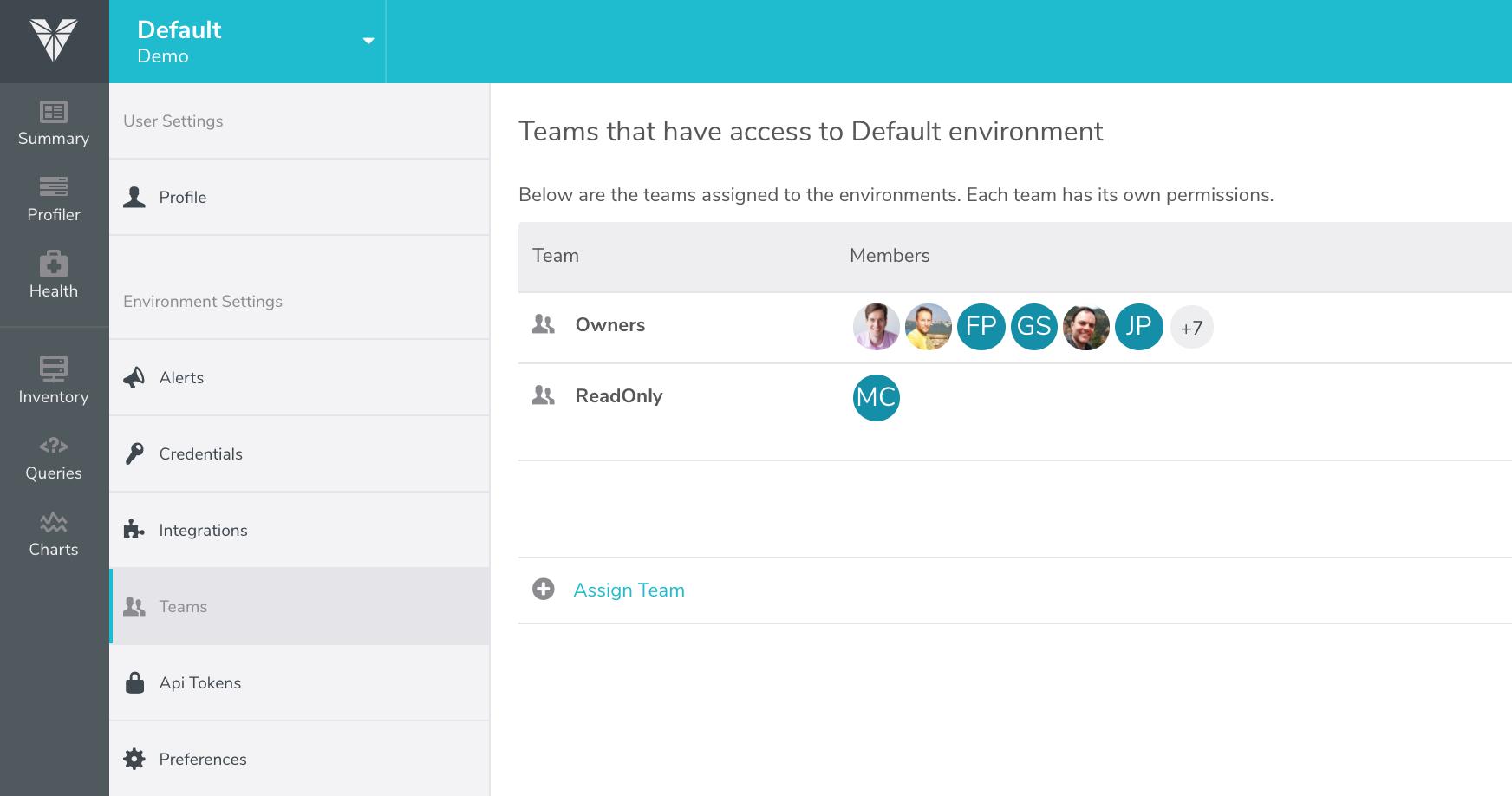 Environment's Teams