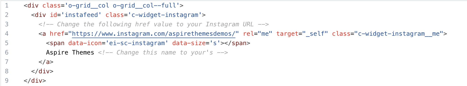 Instagram Partials Code