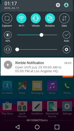 Open Shift Mobile Alerts