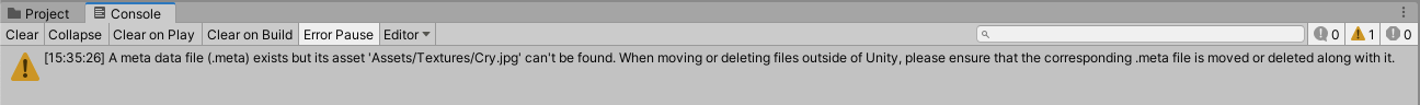 Unity missing Asset file for meta