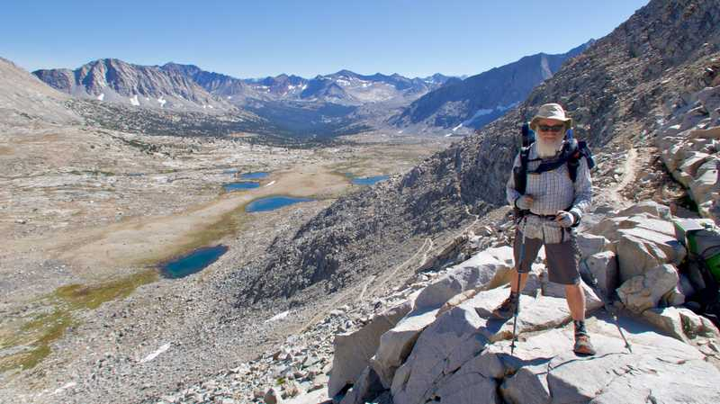 Gravity stands at Mather Pass