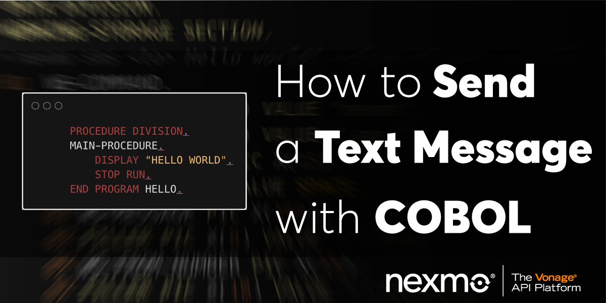 Send a Text Message with COBOL