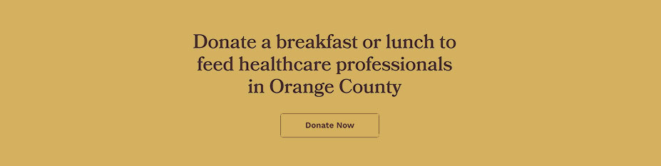 feed a doctor or nurse donate a lunch or breakfast today