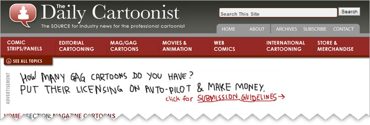 Effective Ad for GagCartoons.com