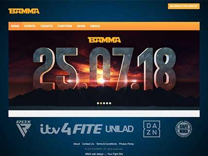 BAMMA website screen-shot