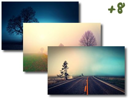 Foggy Roads theme pack