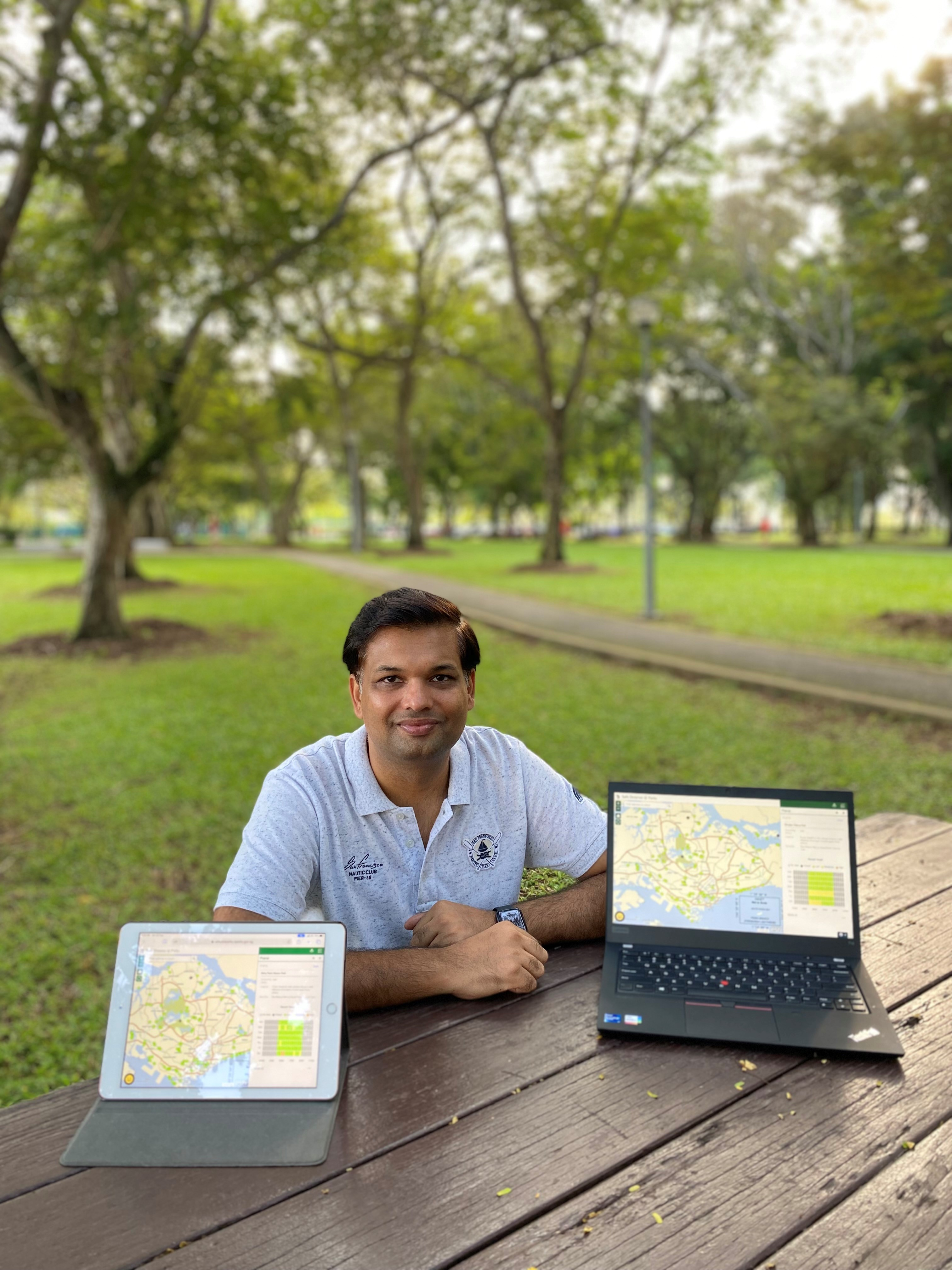 Abishek who worked on the Safe Distance @ Parks